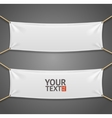 Blanc Fabric Rectangular Banner with Ropes vector image vector image