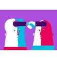 Bussiness Two heads shaking vector image