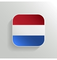 Button - Netherlands Flag Icon vector image