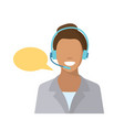 call center employee vector image