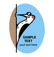 Cartoon woodpecker vector image