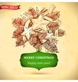 Christmas and New year holidays hand drawn vector image vector image