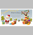 christmas background merry with santa vector image vector image