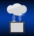 Cloud link background vector image vector image