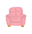comfortable armchair cushioned furniture with vector image vector image