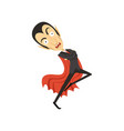 count dracula dancing vampire in black suit and vector image vector image