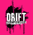 drift lettering image vector image vector image