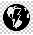 Earth shock icon vector image