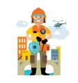 Emergency rescue service Flat style vector image vector image