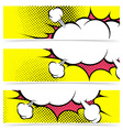 Explosion zap cloud stickers collection in comic vector image vector image