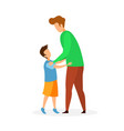 father and son hugging flat vector image vector image
