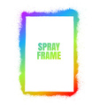 Frame Spray texture vector image