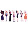 girl power set with diversity vector image vector image