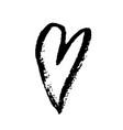 Grunge hand drawn ink heart valentine day dry