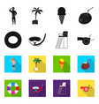 isolated object of pool and swimming logo set of vector image vector image