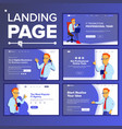 landing set main web page design website vector image