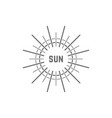 linear simple gray sun logo vector image vector image