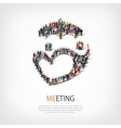 meeting people sign 3d vector image vector image