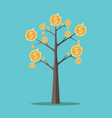 money tree gold coins vector image vector image