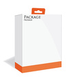 Orange software package vector image vector image