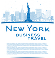Outline New York city skyline vector image vector image