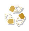 recycle logo concept golden gradient icon vector image