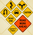 Road sign set vector | Price: 1 Credit (USD $1)