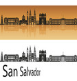 san salvador skyline vector image vector image