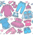 Seamless pattern children clothing vector image vector image