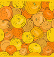 seamless pattern yellow and orange citrus vector image vector image