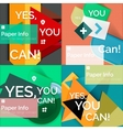 Set of flat design square banners vector image vector image