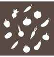 Silhouettes of Vegetables vector image