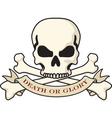 skull and crossbones emblem vector image vector image