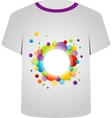 T Shirt Template- Colorful circles vector image vector image