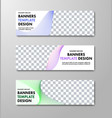 templates of horizontal white web banners with vector image vector image