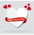 Valentines day abstract background cut paper heart vector image vector image