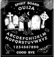 vintage ouija board with halloween playing vector image vector image