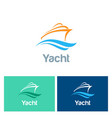 yacht colored logo vector image vector image