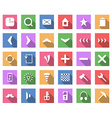 Flat icon set collection with long shadow vector image