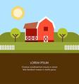 Rural Farm Landscape Farm House Flat Style vector image