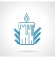 Blue line Xmas candle vector image