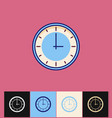 clock icon flat blue simple vector image