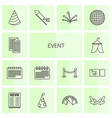 14 event icons vector image vector image