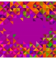 Abstract Geometric Background Trendy Mosaic vector image vector image