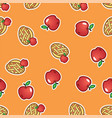 apple pie pattern background sweet and tasty vector image vector image
