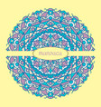 beautiful color mandala on a yellow vector image vector image