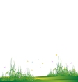 beauty grass silhouette vector image vector image