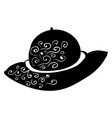 black woman hat on white background vector image vector image