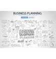 Business Planning concept with Doodle design style vector image