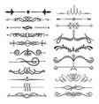 calligraphic decorative dividers set ornamental vector image